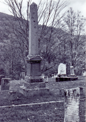 The monument erected by Jay in 1880 near the Old Yellow Meeting House to mark the burial place of his father, mother, sister, and two step-mothers.Photograph by Ed Renehan