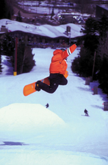 Hunter's snowboard terrain park is a great place to carve some turns. Photograph courtesy of Hunter Mountain