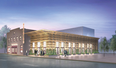 Rendering of the Orpheum Performing Arts Center, to open in the summer of 2007