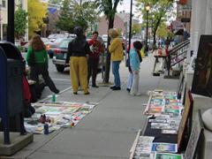 Street scene from Hudson Artswalk