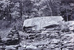 Burroughs� Boyhood Rock. Photograph by Edward J. Renehan Jr.